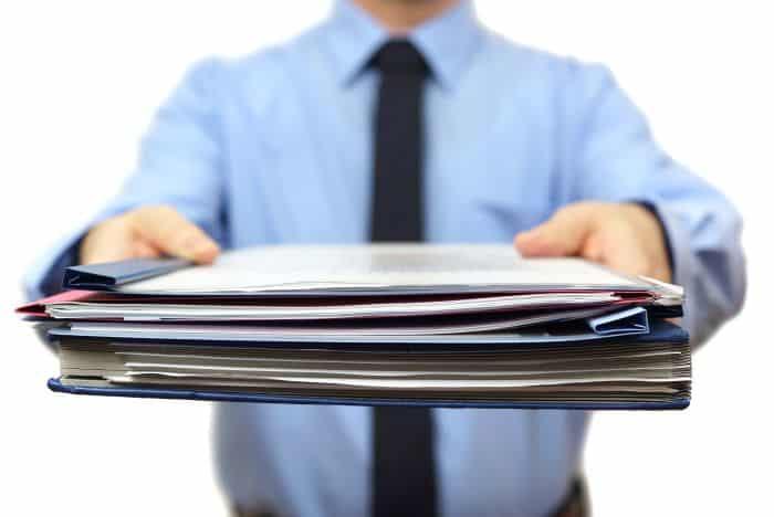 Handover of documents