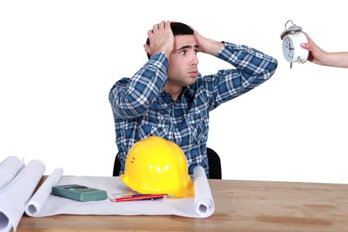 Design engineer under pressure by construction