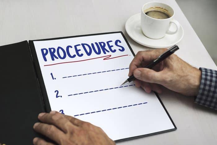 List of Project Procedures