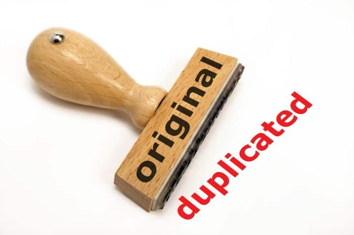 Multiple timesheets original duplicate stamp
