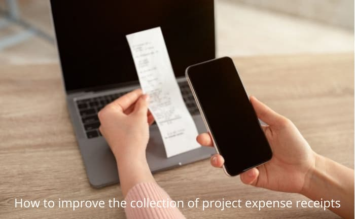 Photo scanning project expense receipts